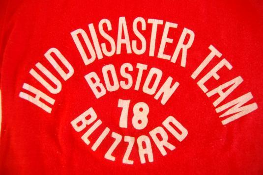 70s Vintage Tshirt Authentic Boston Blizzard of 1978 MA Snow