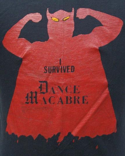 Vintage 80's I Survived Dance Macabre t shirt M