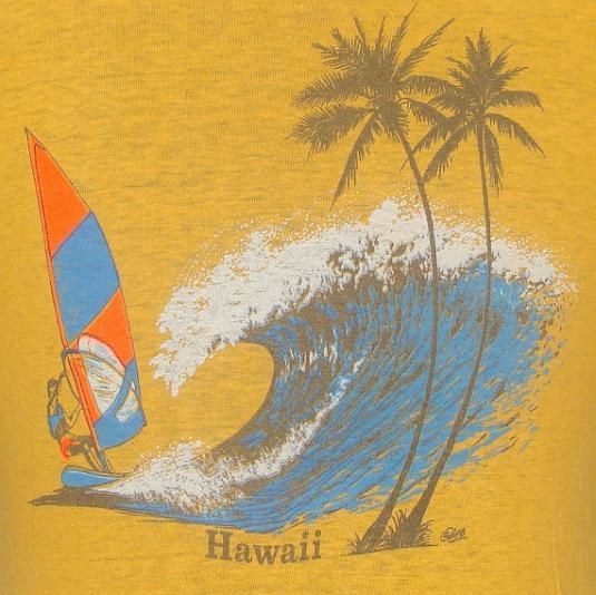 Vintage 70's Hawaii windsurfer t shirt M