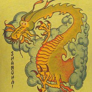 Vintage 81' Chinese Dragon Shanghai t shirt L