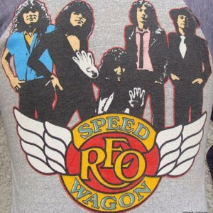 Vintage 80's REO SPEED WAGON t shirt M