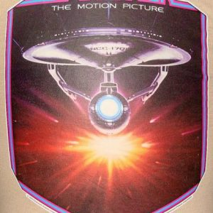 Vintage 1979 STAR TREK The Motion Picture iron on t shirt S