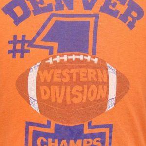 Vintage 77' Denver Broncos Western Champs t shirt XL