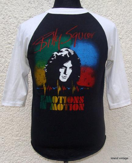 Vintage 80's Billy Squier emotions in motion rock t shirt M