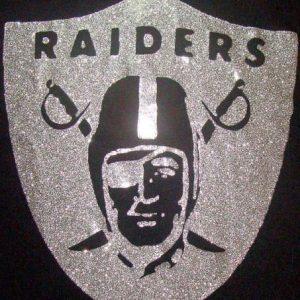 Vintage 1970's Oakland Raiders iron on raider logo M