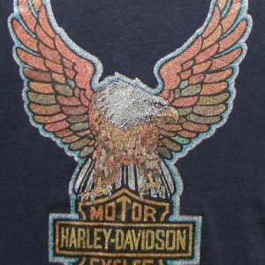 Vintage 70's Harley Davidson glitter iron on t shirt M