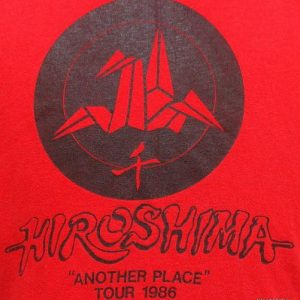 Vintage 1986 Hiroshima Another Place tour t shirt L