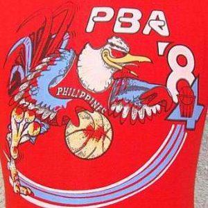 Vintage 84' PBA Philippines Basketball Association t shirt