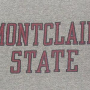 Vintage 70's Montclair State champion blue bar t shirt S