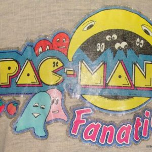 Vintage 80's PACMAN video game fanatic iron on t shirt XL