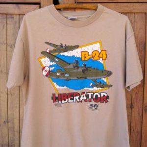 1991 B-24 Liberator American Eagle Collection Vintage TShirt