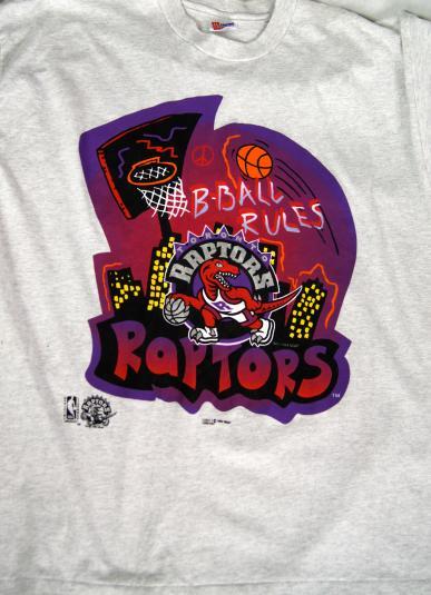 Vintage B-Ball Rules Toronto Raptors Official Licensed T-Shi