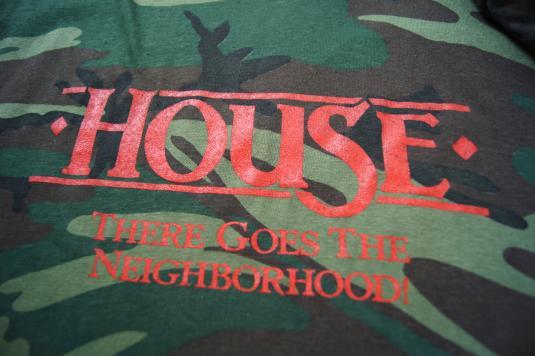 Vintage Camouflage T-shirtHouseThere Goes the Neigborhood