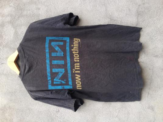 Vintage NINE INCH NAILS 90s Now I'm Nothing T-shirt L Origin