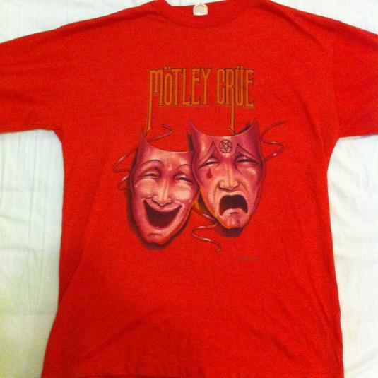 Theatre of Pain World Tour 1985-1986 T-Shirt. Red
