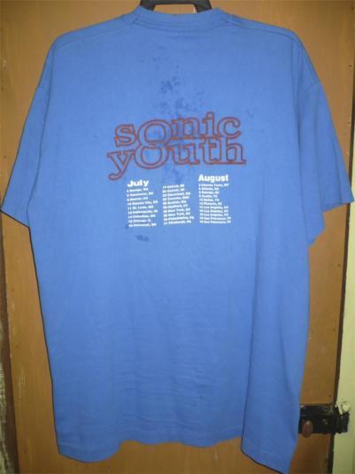 SONIC YOUTH WASHING MACHINE TOUR 1995