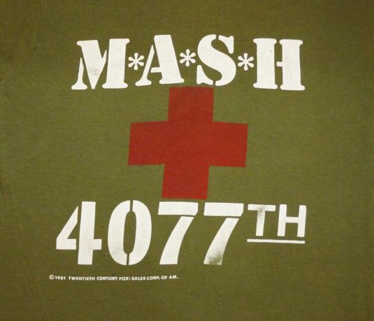 MASH 4077th 1981 Vintage T Shirt Television Finale Show 80's