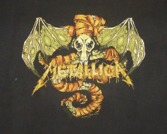 Metallica 1992 Black Tour Vintage T Shirt Pushead May Roam