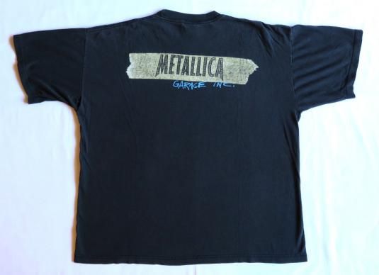 Metallica 90's Garage Inc Tour Vintage T Shirt 1998 Concert