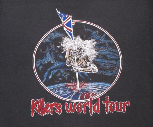 Iron Maiden 1987 Killers Concert Vintage T Shirt World Tour