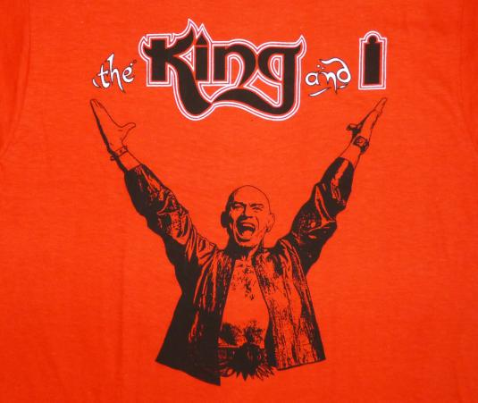 The King And I 70's Vintage T Shirt Broadway Musical