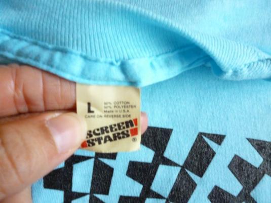 Geometric Illusion 80's Vintage T Shirt Op Art Deadstock