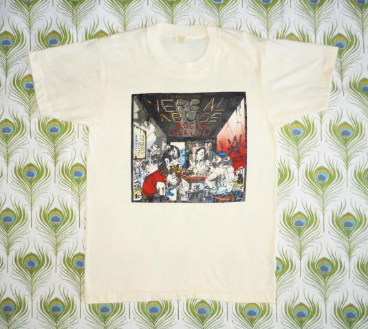 Verbal Abuse 1986 Rocks Your Liver Vintage T Shirt