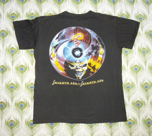 Iron Maiden 1988 Can I Play With Madness Vintage T Shirt 7th