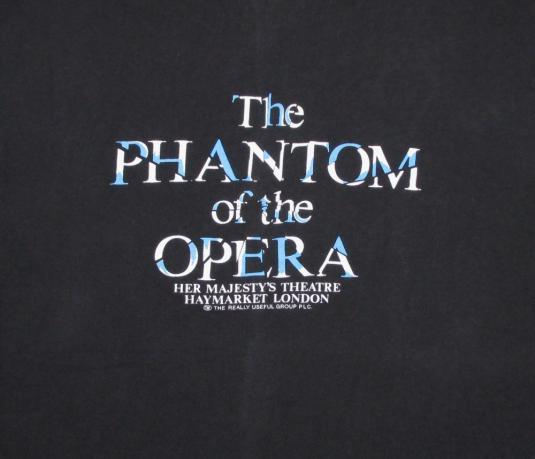 Phantom Of The Opera 1988 Vintage T Shirt London Glows XL