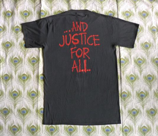 Metallica 1988 Justice For All Vintage T Shirt Group Shot
