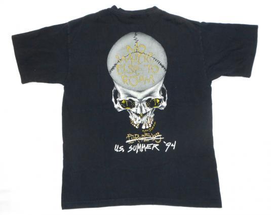 Metallica 1994 Black Tour Vintage T Shirt Pushead Eagle