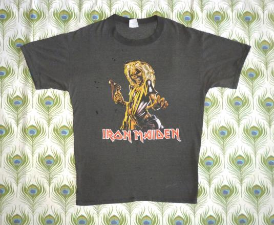 Iron Maiden 1987 Killers Vintage T Shirt Somewhere In Time