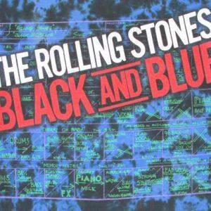 Rolling Stones 1994 Black And Blue Tour Vintage T Shirt Dye