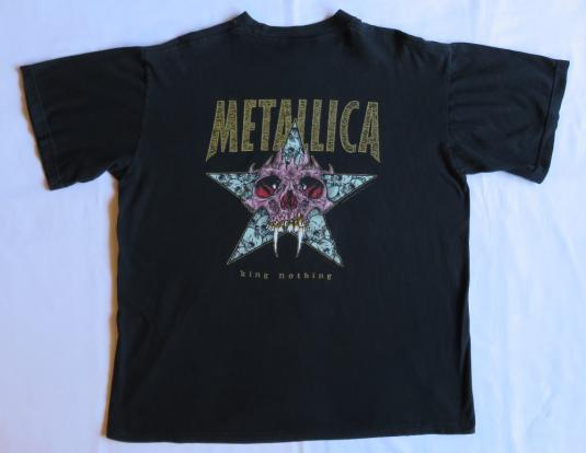 Metallica 1996 Load Tour Vintage T Shirt Pushead Careful