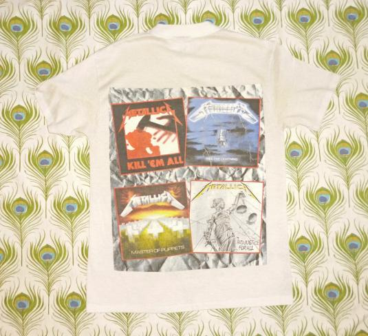 Metallica 1988 And Justice For All Vintage T Shirt Albums