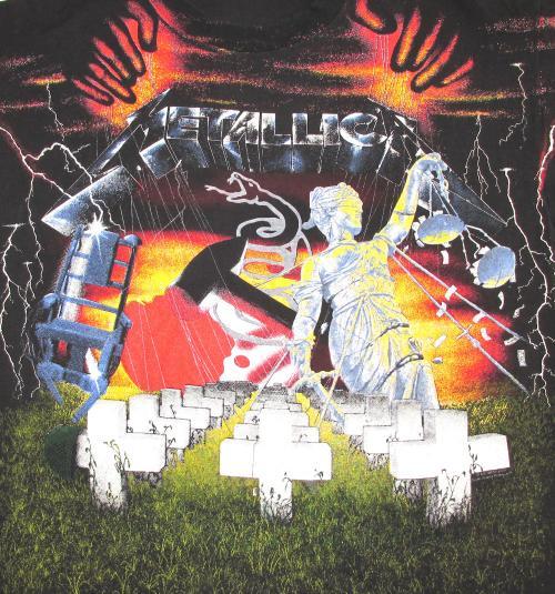 Metallica 1991 Black Tour Vintage T Shirt Album Collage Art