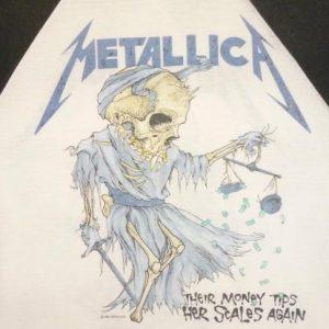 Metallica 1988 Justice For All Vintage T Shirt Jersey Doris