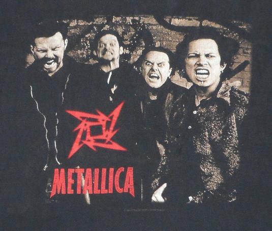 Metallica 1996 Load Again Tour Vintage T Shirt DATES! XL