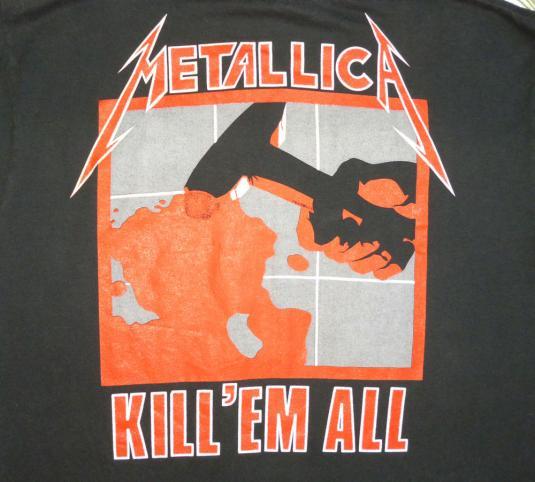 Metallica 1987 Electric Chair Vintage T Shirt Glows