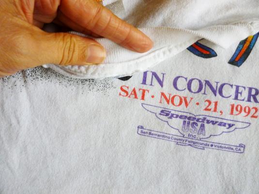 Eddie Money 1992 Vintage T Shirt Speedway USA Concert 90's