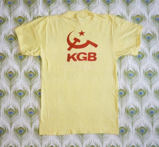 KGB 80's Russia Logo Symbol Vintage T Shirt USSR Deadstock M