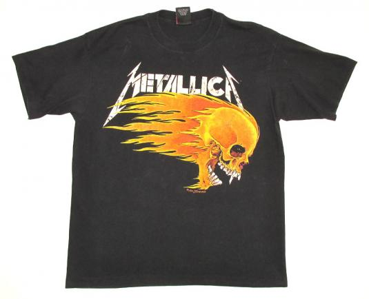 Metallica 1994 Live Sh!t Tour Vintage T Shirt Pushead Dates