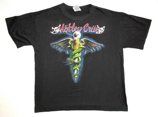 Motley Crue 1989 Dr Feelgood Tour Vintage T Shirt Fans Best