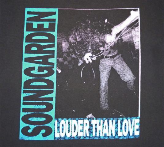 Soundgarden 1990 Louder Than Love Vintage T Shirt Bands Over