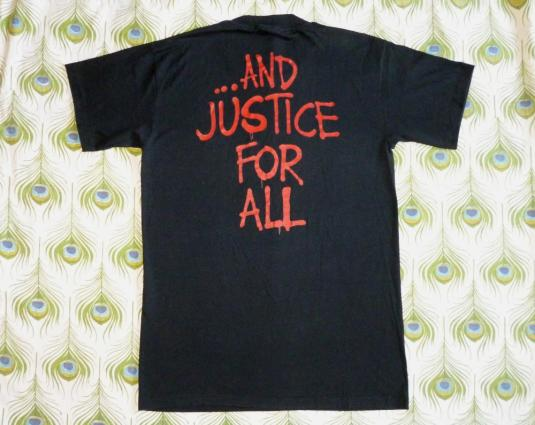 Metallica 1988 And Justice For All Vintage T Shirt Group Pic