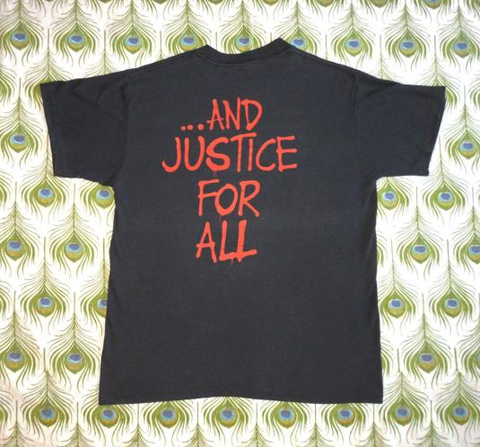 Metallica 1988 …And Justice For All Vintage T Shirt