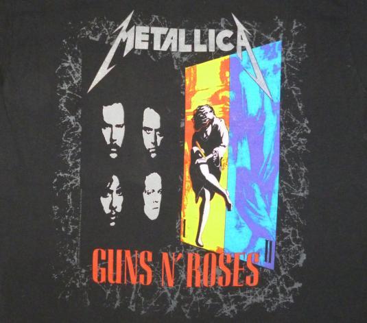 Metallica Guns N Roses '92 FaithNoMore Vintage T Shirt Dates