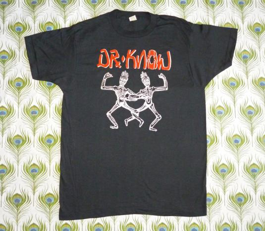 Dr. Know 1987 The Island Earth Vintage T Shirt Deadstock XL