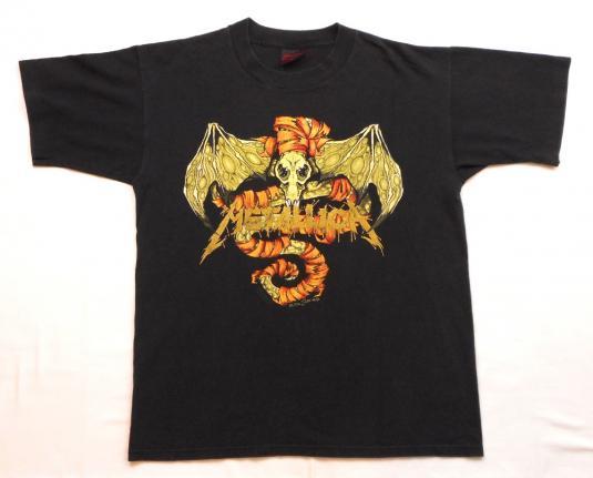 Metallica 1991 Black Tour Vintage T Shirt Raom Pushead