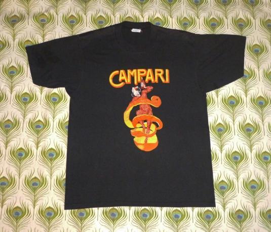 Campari 80's Vintage T Shirt Leonetto Cappiello Bitters Ad